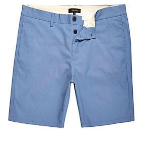 Blue slim fit shorts