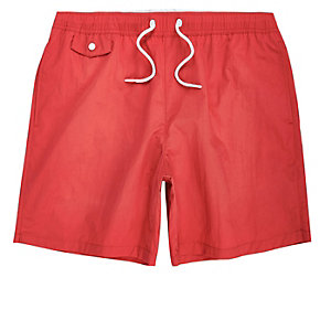Coral pocket swim trunks