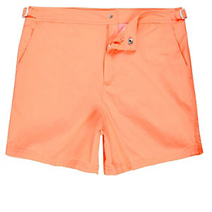Fluro orange swim trunks