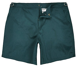 Teal blue swim shorts