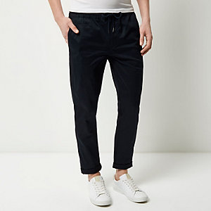 Navy pull on pants