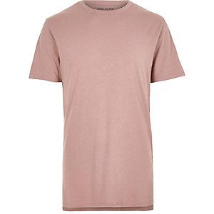 Pink marl longline t-shirt