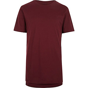 Dark red longline t-shirt