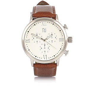 Brown Roman numeral watch