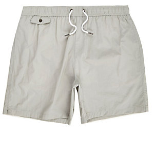 Grey pocket swim trunks
