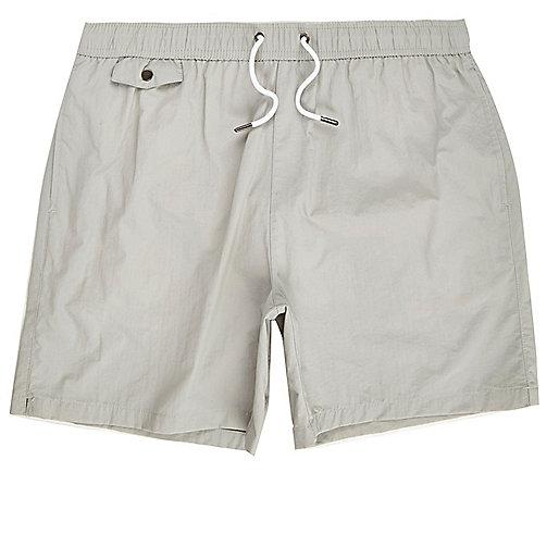 Short de bain gris à poches