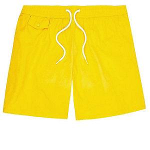 Yellow pocket swim shorts