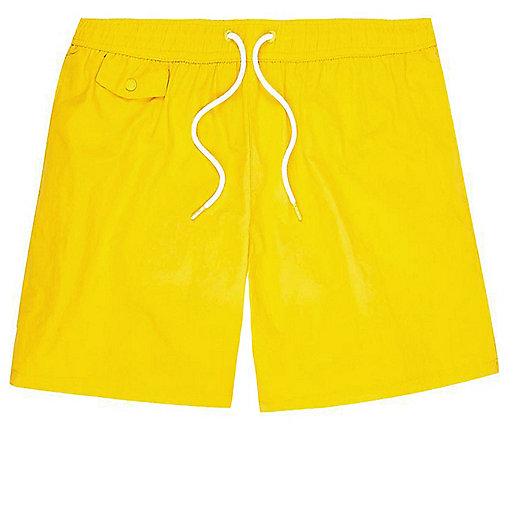 Short de bain jaune à poche