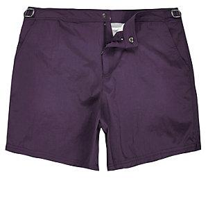 Dark purple swim shorts