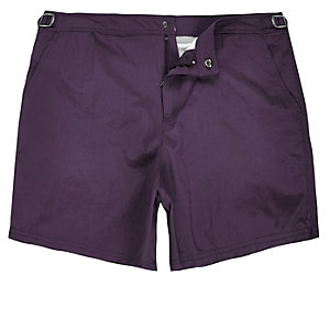 Dark purple swim shorts