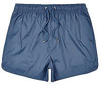 Blue plain swim trunks