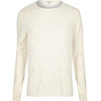 Ecru long sleeve T-shirt