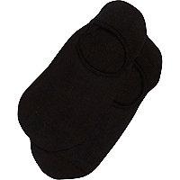 Black invisible sneaker socks