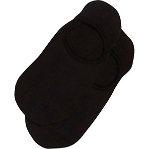 Black invisible trainer socks