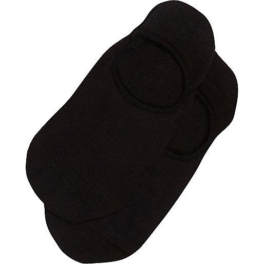 Black invisible trainer socks