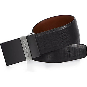 Black reversible RI plate belt