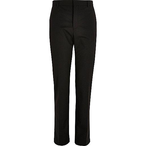 Black slim fit suit trousers