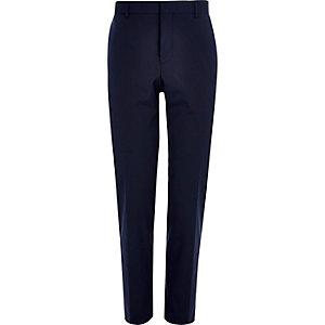 Pantalon de costume slim bleu foncé