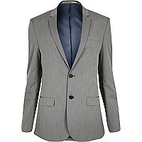 Grey skinny fit suit jacket