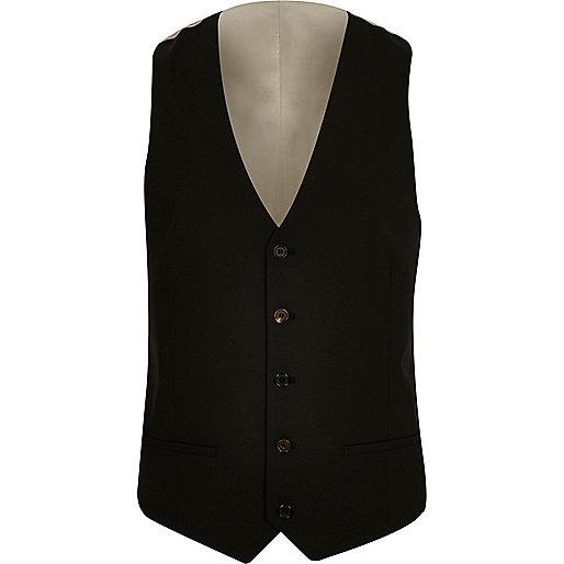 Black slim vest
