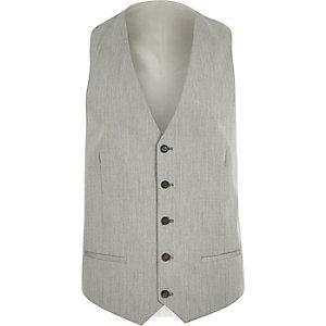 Gilet de costume gris cintré