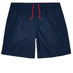 Navy microfibre swim trunks