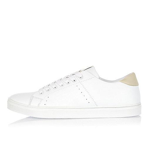 White tonal trainers