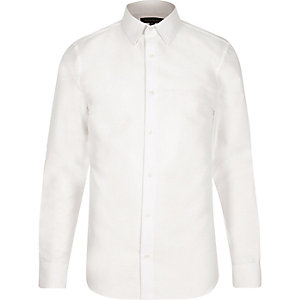 White stripe slim fit shirt