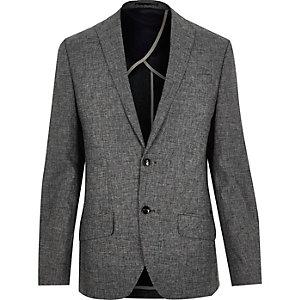 Grey texture slim blazer