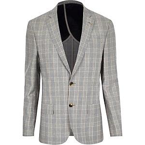 Blue check slim blazer