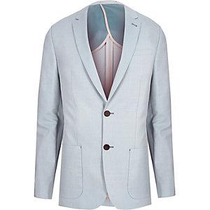 Blue skinny fit blazer