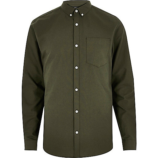 Khaki green Oxford shirt
