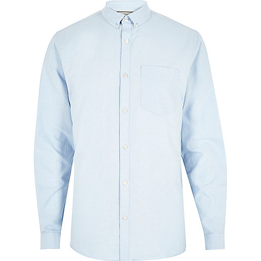 Light blue casual Oxford shirt