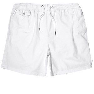 White pull on swim trunks