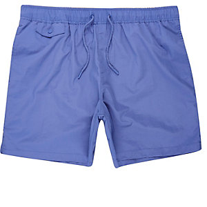 Purple pocket swim shorts