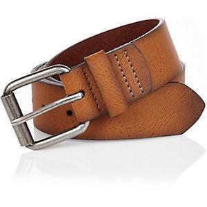Brown basic belt