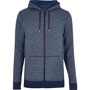Navy marl hoodie