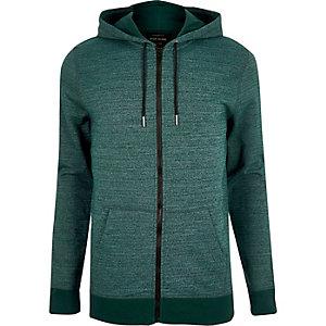 Green marl hoodie