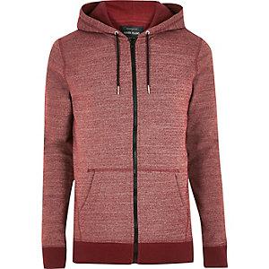 Red marl hoodie
