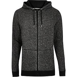 Grey marl terry hoodie