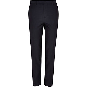 Blue slim fit suit pants