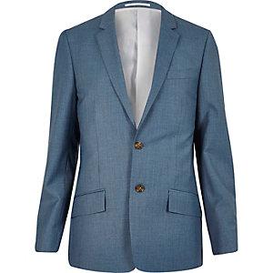 Veste de costume bleu clair coupe cintrée