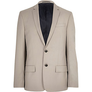 Ecru slim fit suit jacket