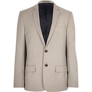 Veste de costume écru coupe slim