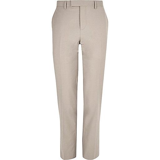 Pantalon de costume écru coupe slim