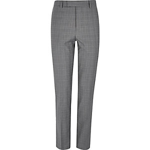 Grey checked suit pants
