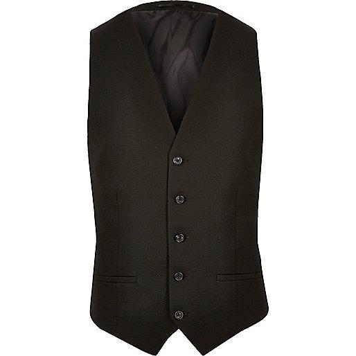 Black smart waistcoat