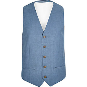 Light blue slim vest