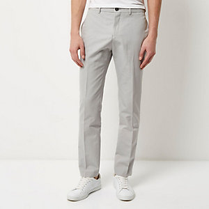 Grey smart slim pants