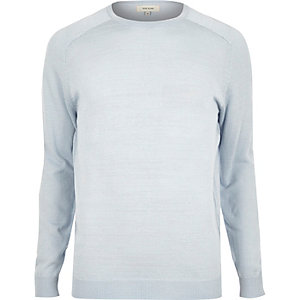 Light blue crew neck sweater